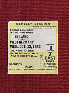 1982 England v West Germany Genuine Match Ticket