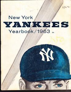 VINTAGE 1963 NEW YORK YANKEES YEARBOOK MICKEY MANTLE ROGER MARIS TONY KUBEK
