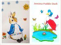 Vintage toy knitting pattern.Beatrix potter Peter rabbit and jemima puddle duck