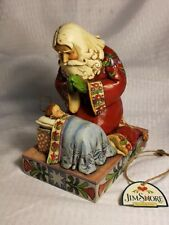 "Vintage 2008 Jim Shore ""The Real Meaning Of Christmas"" Santa-St. Nick-Baby Jesus"