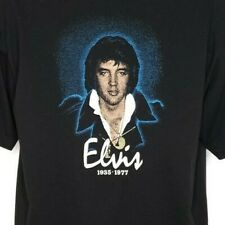 Elvis Presley Memorial T Shirt Vintage 70s 80s 1935 1977 Distressed Size XL