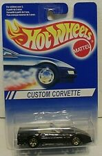 HOT WHEELS  - 1991 - CUSTOM CORVETTE - INTERNATIONAL CARD - 7 spkg