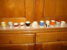 collection of vintage egg cups x 11