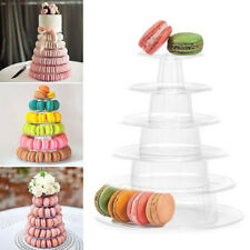 6 Tiers Round Macaroon Tower Cake Display Rack Wedding Birthday Party Stand