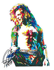 David Lee Roth, Van Halen, Rock Vocalist, Hard Rock, Metal, 8.5x11 PRINT w/COA