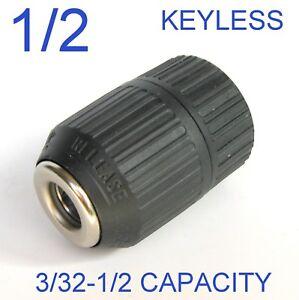 "1 pc keyless 3/32""-1/2"" Capacity 1/2""-20UNF Mount Drill Chuck S"