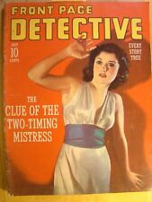 Front Page Detective Magazine July 1941 Vintage True Crime Rare Issue