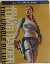 Lara Croft Tomb Raider Cradle Of Life (Blu-ray/DVD/Digital) Steelbook NEW Sealed