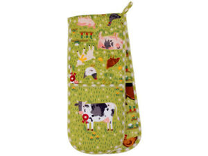 JENNIES FARM Double Oven Glove Ulster Weavers oven gloves farm animals ovenglove