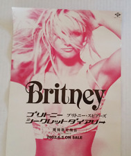 "Britney Spears Vintage POSTER Large 29"" x 10"" PROMO Japan Only Rare Double Sided"