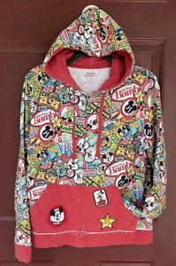 Disneyland Walt Disney World Zip Up Hoodie Hooded Sweatshirt Mickey Donald Bambi