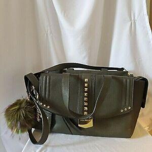 Steve Madden Olive Green Vegan Leather Studded Purse Shoulder Bag Crossbody