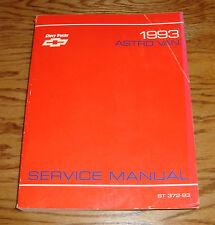 Original 1993 Chevrolet Astro Van Shop Service Manual 93 Chevy
