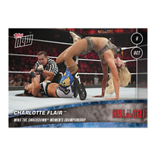 2019 TOPPS NOW WWE #75 CHARLOTTE FLAIR WINS SMACKDOWN WOMEN'S CHAMPIONSHIP