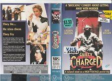 GUILTY AS CHARGED ROD STEIGER LAUREN HUTTON HEATHER GRAHAM  RARE PAL VHS VIDEO