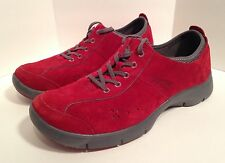Dansko Women's Red Suede Leather Slip Resistant Work Shoes Size Euro 42 US 10.5