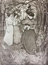 Manuel Robbe Le Menuet d'automne lithographie originale 1898 L'estampe Moderne