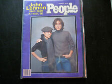 JOHN LENNON TRIBUTE PEOPLE MAGAZINE DECEMBER 22, 1980* NO LABEL*