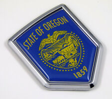 Oregon USA State Flag Car Chrome Emblem Decal Sticker bike laptop boat