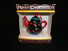 Mary Engelbreit Black Cherry Orchard Teapot Ornament – Euc