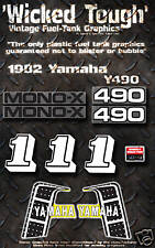 YAMAHA 1982 YZ490 WICKED TOUGH DECAL GRAPHIC KIT