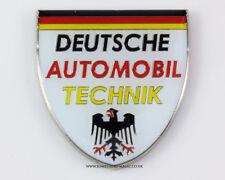Nuevo Metal Cromado Deutsche Automobil Technik Esmalte Placa De Coche Placa VW AUDI A4 A3