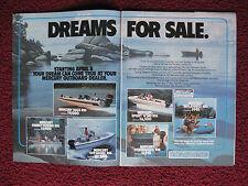 1983 Print Ad Mercury Outboard Motors Fishing and Ski Boats ~ Dreams For Sale