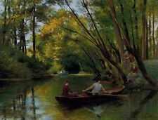 Scalbert Jules The Boatmen A4 Print