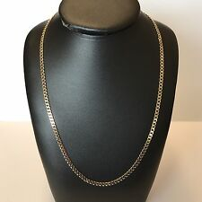 """9Carat (9ct) Gold Curb Link Chain - Solid Yellow Gold - 24"""" Long - 9.81g"""