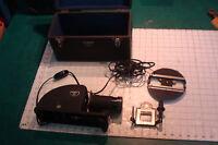 Vintage cool ARGUS slide & film strip projector, WORKS in case STREAMLINED DECO