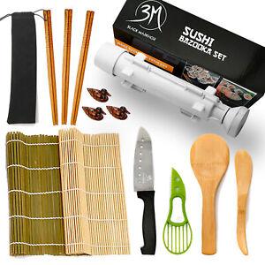 14 Pcs Sushi Maker, DIY Sushi Making Kit for Beginners, Sushi Set