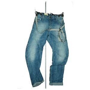 G-STAR Arc 3D Loose Tapered Braces Unisex Jeans Hose m. Hosenträger W29 L32 Blau