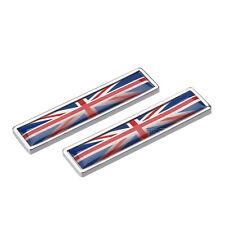 Stainless Metal 3D UK England Flag Emblem Badge 3M Decal Sticker Car Body Fender