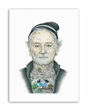 BILL MURRAY GANGSTER INKED IKON BY W.MAGUIRE Canvas art Prints