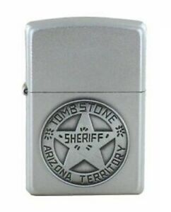 Zippo Feuerzeug Tombstone Arizona Sheriff Emblem Satin finish