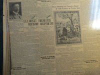 Titanic Ship Newspaper 1912 S.O.S. GETS RIGHT OF WAY + CALIFORNIA CAPT. LORD