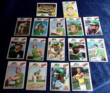 15 DIFF + TEAM OAKLAND ATHLETICS CHECKLIST 1977 TOPPS BASEBALL CARDS MOST NM-M