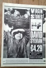 DAVID SYLVIAN (JAPAN) 'Brilliant Trees' magazine ADVERT/Poster 11x8 inches