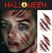 2 x Halloween Zombie Scars Tattoos Fake Blood Scab Scar Wound Stage Make-Up Kit