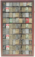 Large 90 Sport Zippo Lighter Display Case Wall Cabinet Shadow Box LC06-MA