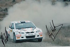 Guy Wilks and Phil Pugh Hand Signed 12x8 Photo Proton Satria Rally.