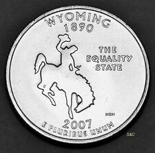 2007 D MINT Wyoming  State Quarter Uncirculated Clad U. S. Mint50 State Quarters
