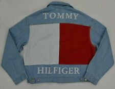 NWT Men's Tommy Hilfiger Denim Jeans Jacket Outerwear w Colorblock Back