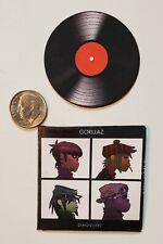 """Miniature record album vinyl  2""""  1/6 Rapper Hip Hop figure GorillaZ"""