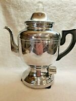 Vintage Farberware No 206 Electric Coffee Maker Percolator With Original Cord