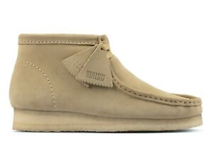NEW MENS CLARKS ORIGINAL WALLABEE LIMITED EDITION MAPLE SAND SUEDE LEATHER SHOES