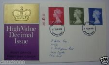 "UNITED KINGDOM  ""POST OFFICE FIRST DAY COVER HIGH VALUE DECIMAL ISSUE"""