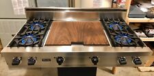New listing Watch Testing On YouTube, 48� Viking® Pro Rangetop Cooktop Ss - Double Griddle!