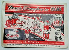 Magic Transfer in Colors for Kiddies Wear Vintage Iron On Embroidery Pattern
