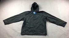 Men's Columbia Full Zip Hooded Omni-Tech Rain Jacket Coat Size XL Gray Mesh #686
